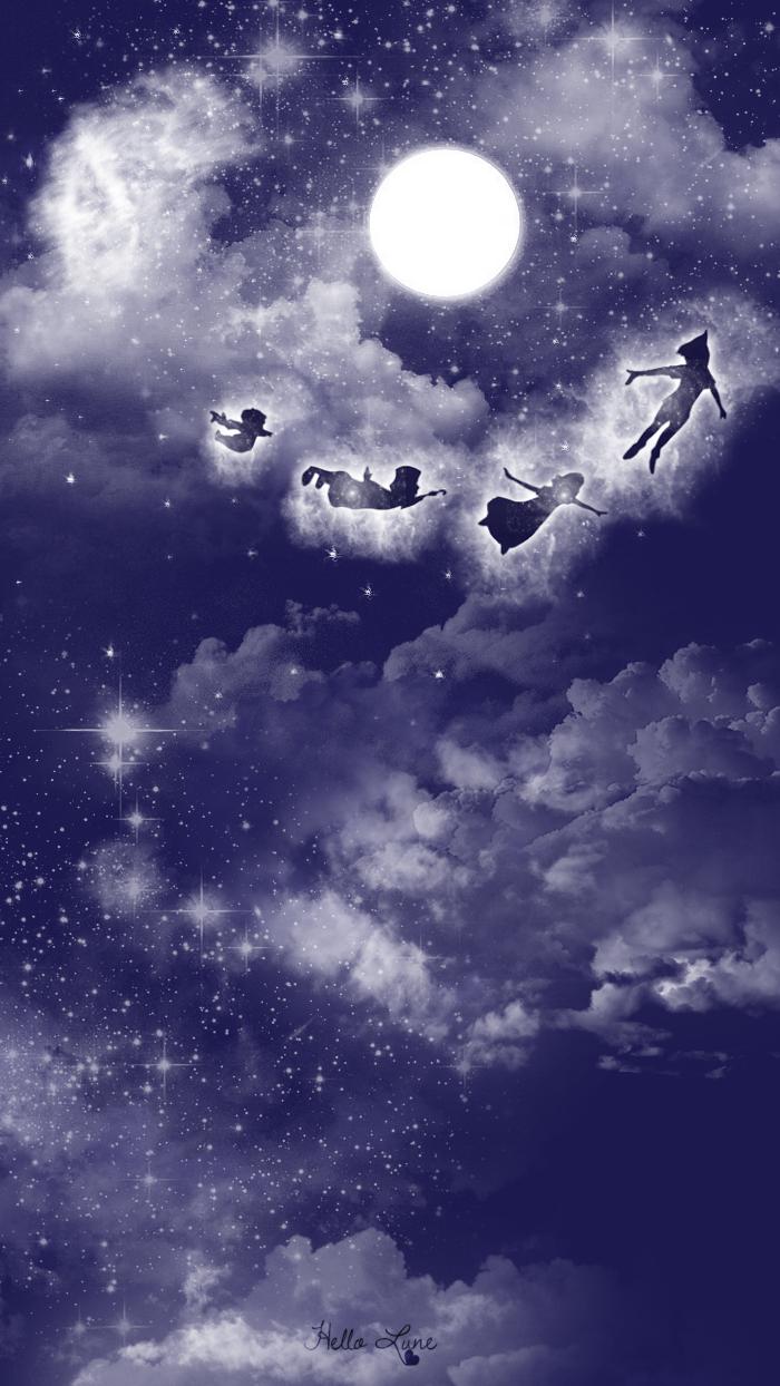 Fond hello lune - Image de peter pan ...